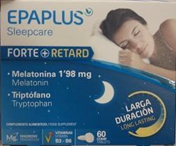 Epaplus Forte + Retard, Suplemento para Dormir con Melatonina y Triptófano