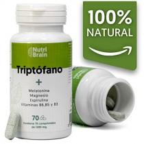 Natural Triptófano con Melatonina y Espirulina | 70 Comprimidos