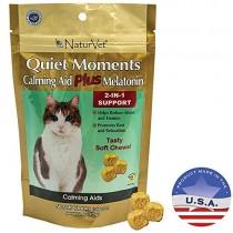 NaturVet 50 Count Quiet Moments Calmante Cat Plus Melatonina Suave Masticar